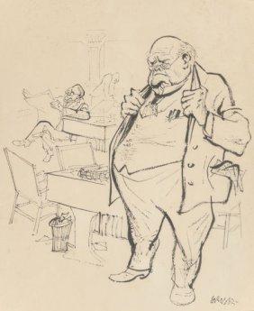 William Gropper (american, 1897-1977) Big Busine