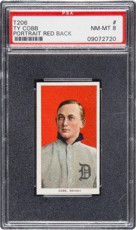 1909-1911 T206 Piedmont Ty Cobb (red Portrait) P