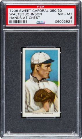 1909-11 T206 Sweet Caporal Walter Johnson Hands