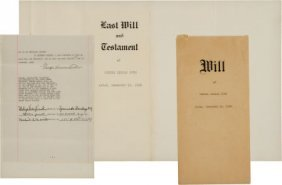 1933 Babe Ruth Signed Last Will And Testament. A
