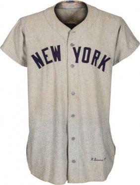 1951 Yogi Berra Game Worn New York Yankees Jerse