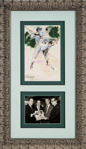 1961 Joe Dimaggio Original Artwork By Leroy Neim