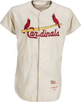 1957 Stan Musial Game Worn St. Louis Cardinals J