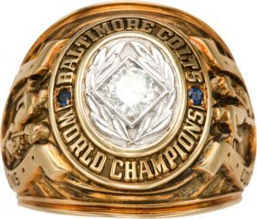 1958 Baltimore Colts Nfl Championship Ring Prese