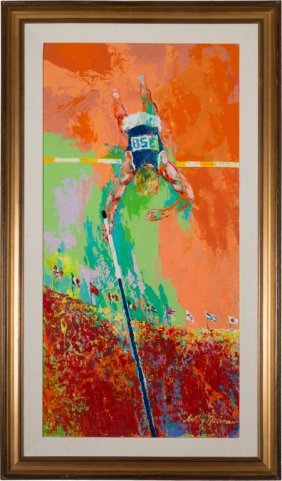 "1979 ""olympic Pole Vaulter"" Original Painting By"
