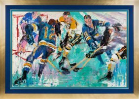 """1968 """"the Blues And The Bruins"""" Original Paintin"""