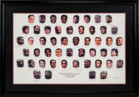 1996 Nba's 50 Greatest Players Signed Lithograph