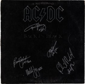 Ac/dc Signed Back In Black Lp (atlantic 16018, 1
