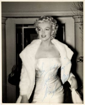 A Marilyn Monroe Signed Black And White Photogra