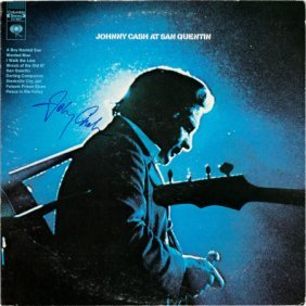 Johnny Cash At San Quentin Signed Lp (columbia C