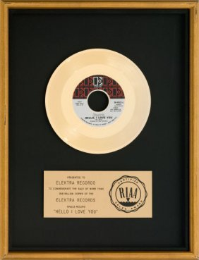 """Doors """"hello, I Love You"""" Riaa Gold Record Award"""