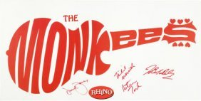 Monkees - Signed Promotional Banner (rhino). Mea