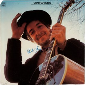 Bob Dylan Signed Nashville Skyline Quadraphonic