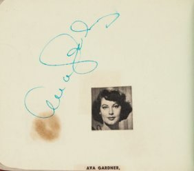 An Autograph Book With Signatures Including Ava