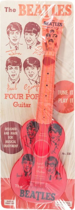 Beatles Four Pop Vintage Toy Guitar By Mastro On