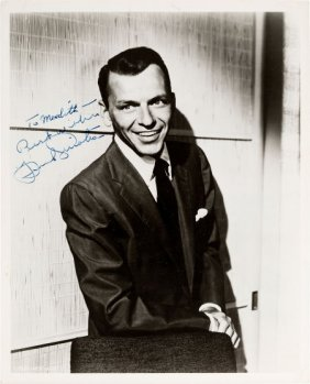 A Frank Sinatra Signed Black And White Photograp