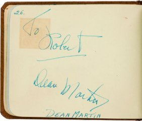 An Autograph Book With Signatures Including Dean
