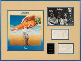 Badfinger Original Group Signatures In Framed Di