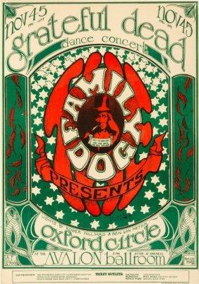 "Grateful Dead ""logo"" Avalon Ballroom Concert Pos"