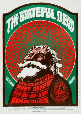 Grateful Dead/ Moby Grape Avalon Concert Poster