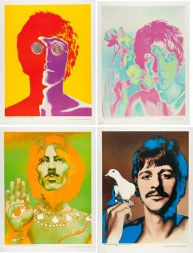 Beatles - Set Of Four Richard Avedon Psychedelic