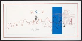 Eric Clapton Signed 24 Nights Peter Blake Art Pr