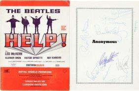 Beatles - Help! Film Program Signed By Paul, Geo