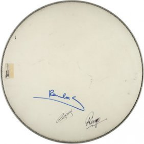 Beatles - Paul, George, And Ringo Signed Ludwig