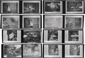 Elvis Presley Rare Picture Negatives. A Set Of E
