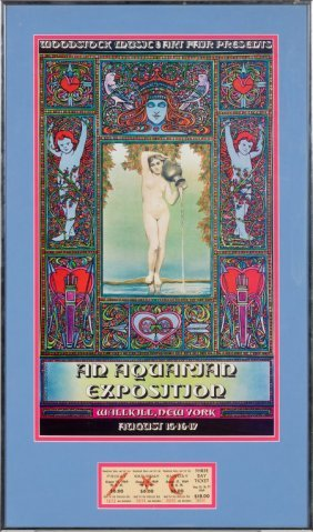 "Woodstock - ""an Aquarian Exposition"" Original Po"