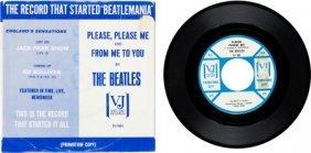 """Beatles """"please Please Me"""" Promo 45 And Rare Sle"""