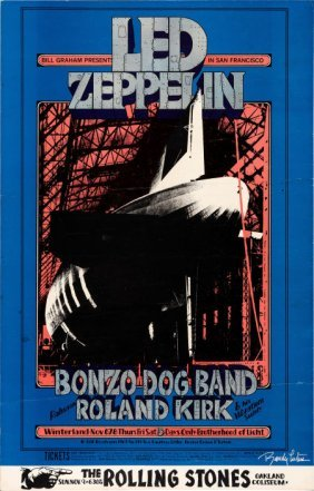 Led Zeppelin Winterland Concert Poster Bg-199 (b