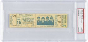Beatles Unused New York Shea Stadium Concert Tic