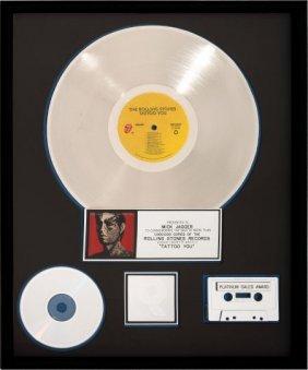 Rolling Stones Tattoo You Riaa Platinum Album Aw