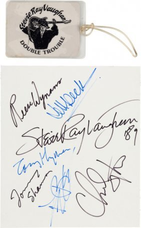 Stevie Ray Vaughan & Jeff Beck Signatures From ""