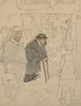 George Grosz (1893-1959) Untitled (old Man And W