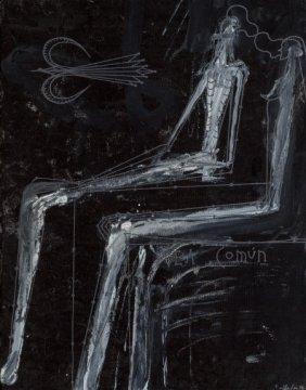 José Bedia (b. 1959) Idea Común, 1997 Acrylic On
