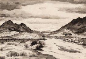 Peter Hurd (american, 1904-1984) Rancho Del Char