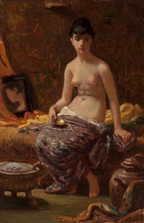 Elihu Vedder (american, 1836-1923) Study For Oda