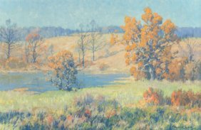 Maurice Braun (american, 1877-1941) Autumn Lands
