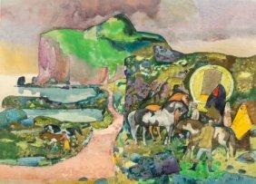 Millard Sheets (american, 1907-1989) Gypsy Tinke