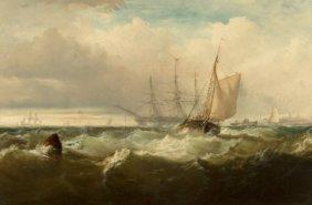 Edward Moran (american, 1829-1901) Storm Off New