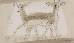 Viktor Schreckengost (american, 1906-2008) Deer