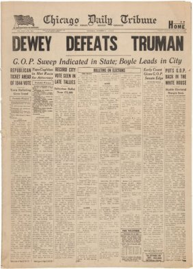 "Harry S Truman: Infamous ""dewey Defeats Truman"""