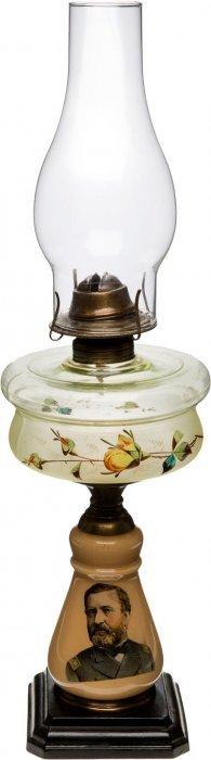 Ulysses S. Grant: Kerosene Table Lamp. Most Unus