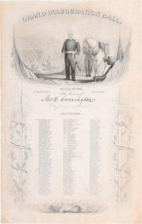 Zachary Taylor: Inauguration Ball Invitation. 5