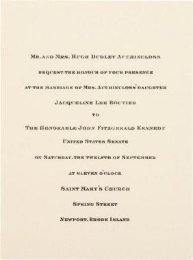 John F. Kennedy And Jacqueline Bouvier: Wedding