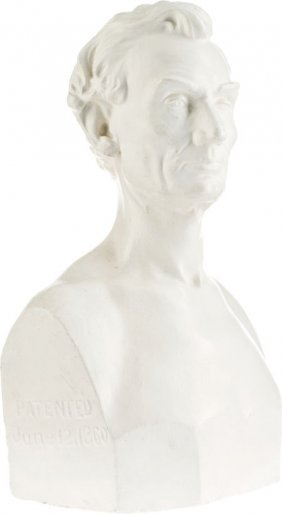 Abraham Lincoln: Dated 1860 Plaster Bust By Leon