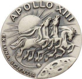 Apollo 13 Flown Silver Robbins Medallion, Serial