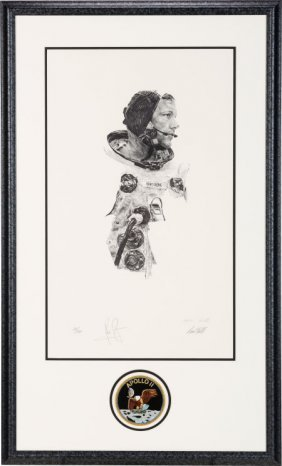 Neil Armstrong Signed Limited Edition Paul Calle
